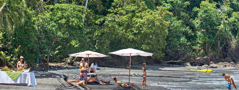 Exclusive Beach at Los Altos Manuel Antonio Hotel